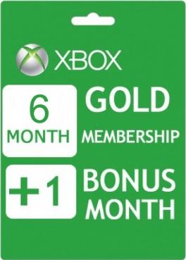 Xbox Live Gold 6+1 měsíc